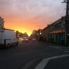 Lever de soleil sur l'avenue de la Châtre